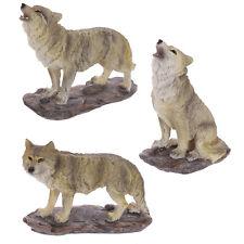 Wolf Decorative Resin Figurine Ornament 14 Cm High