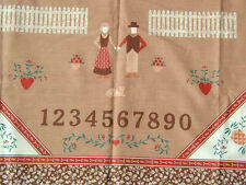 """100% Cotton Fabric Material NEW Country Classic Homestead """"Sampler"""" Ameritex"""
