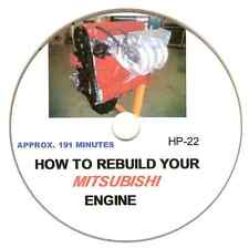 How to Rebuild the Mitsubishi 1.8 2.0 2.4L 4G63 Eclipse Engine Video Manual DVD