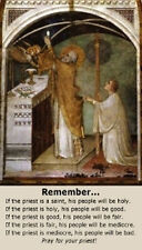 Prayer for Priests Holy Card with Devotional Prayer