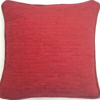 A 16 Inch Laura Ashley cushion cover in Crofton Cranberry fabric