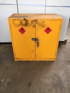 2 DOOR HAZARDOUS CABINET WITH SHELF (5334)