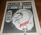 CHARLIE HEBDO..N°65 de 1972 /.LE REGIME EST MENACE POMPIDOU.Couverture de GEBE