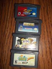 4 games for Game Boy~PacMan Colln.+Sponge Bob Square Pants+Rugrats+PokemonPinbal