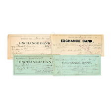 1 set of 4 different types old Iowa USA bank checks most 1900's nice used