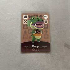 DRAGO #243 Animal Crossing Amiibo Card Authentic Mint Nintendo Series 3