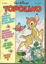 TOPOLINO N° 1918 - 30 AGOSTO 1992