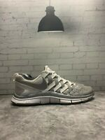 NIKE FREE Trainer 5.0 Fingertrap Shoes White Gray 579813-102 Mens Size 13