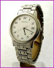 Retro Classic Certina Quartz Date 34mm ETA 955.114 Steel Men's Watch With Box!