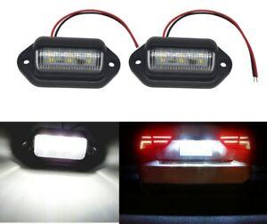 2Pc Suv License Plate Lights 6Ledbulb Lamp Plastic Accessories for Car Truck