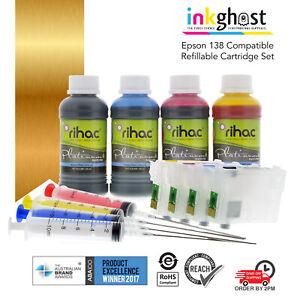 RIHAC refillable ink cartridges alternative for 138 140 Epson WF-7010 7510 7520