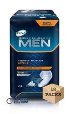 TENA Men Absorbent Protector For Men - Level 3 - 12 Packs of 16 - Total 192 Pads