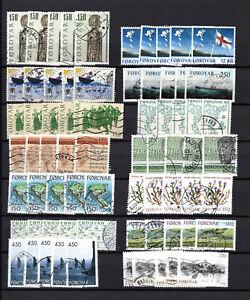 ILES FEROE timbres oblitérés (L)