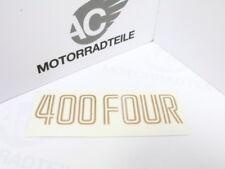 Honda CB 400 Four F F1 Aufkleber Seitendeckel Emblem gold Reproduktion