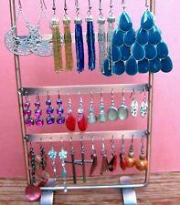 Mixed Lot of 17 Drop Dangle Earrings for Pierced Ears Murano, Glass, Enamel etc