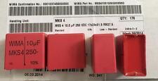 22 Piezas Condensadores de película Wima 10uF 250V 10% MKT RM27,5