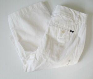 Polo Ralph Lauren Boys Cotton Twill Pants Soft White Sz 20 - NWT