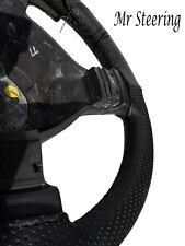 FITS HYUNDAI ELANTRA i30 BLACK PERFORATED LEATHER STEERING WHEEL COVER 2007-2011
