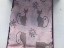 Boxed Cat Scarf - Pink