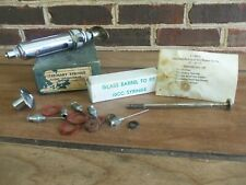 Antique Medical Veterinary Syringe GLOBE Laboratories FORT WORTH TEXAS