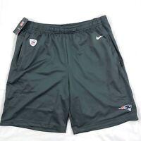 Nike New England Patriots On-Field Football Shorts Dark Grey White Red Mens M-XL