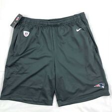 Nike New England Patriots On-Field Football Shorts Dark Grey White Red Mens M-XL