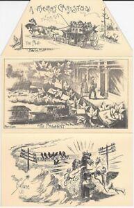 Canada: 1887 Toronto Letter Carrier Holiday Greeting Postal Card FantasyPostcard