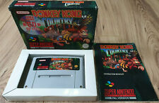 DONKEY KONG COUNTRY for SUPER NINTENDO SNES BOXED WITH MANUAL FREE UK P&P