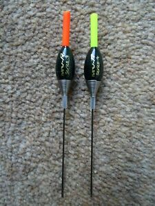 2 x Maver Series 7 pole floats 0.3g Red or Yellow tip