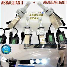 2 Kit FULL LED H7 Alfa Romeo 159 ANABBAGLIANTI + ABBAGLIANTI Luci fari NO ERRORE