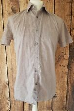 "MENS PAUL SMITH SHORT SLEEVE SHIRT MEDIUM WHITE PURPLE CHECK 42"" CHEST"
