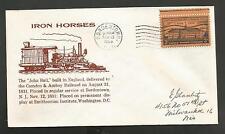 IRON HORSES JOHN BULL NOV 13,1956 BORDENTOWN NJ  200th ANNIV OF NASSAU STAMP
