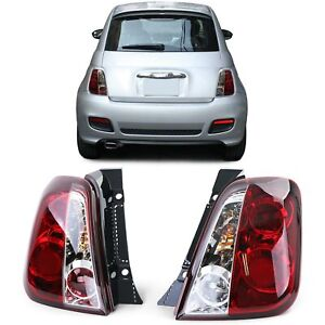 CLEAR TAIL LIGHTS FOR FIAT 500 2007>> FIAT 500 REAR LAMPS