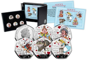 Alice's Adventures in Wonderland Silver Proof 50p Collection
