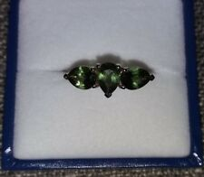 New/Unworn Mandrare Green Apatite 9k White Gold Ring Size N-O Cert of Authentici