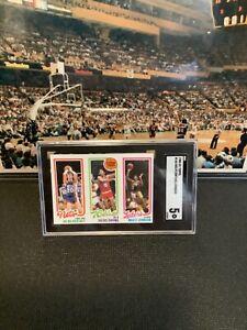1980-81 topps #146 Kolff/Erving/Johnson Magic Johnson Rookie Card With Dr.J SGC