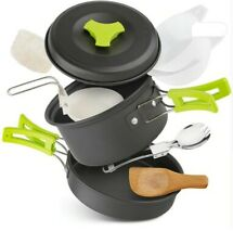 Outdoor 10pcs Camping Cookware Portable Cooking Equipment Bowls