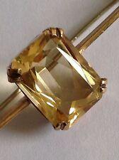 Antiguo Oro 9ct calidad fina Natural Citrino conjunto Broche