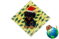 Dachshund Dog Crystal Glass Holiday Christmas Ornament Black