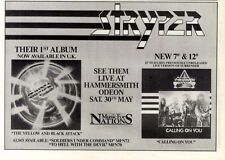 """25/4/87pg18 Album & Concert Advert 7x10"""" Stryper, The Yellow And Black Attack"""