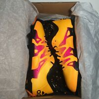 NEW adidas Men's X 15.1 FG/AG Gold/Black/Shock Pink Soccer Cleats 8.5 D (M)