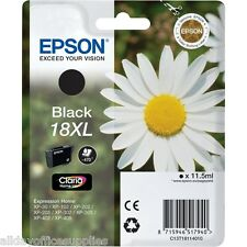 Genuine Epson 18XL T1811 Daisy Ink Cartridge Black XP212 XP205 XP305 XP322 XP315