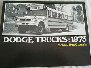 Dodge Trucks School Bus Chassis brochure 1973