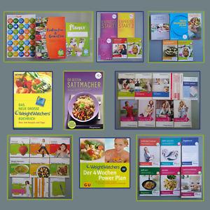 Weight Watchers Bücher Starterset Einkaufsführer usw. verschiedenen Programme