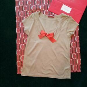 CH Carolina Herrera T-Shirt with Bow   NWOT Tee Shirt