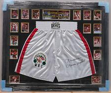 Marvin Hagler Boxeo Firmado Enmarcado Pantalones Cortos maravillosa leyenda Raro cert. de autenticidad Proof