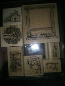 Paper Craft / Scrapbooking Wooden Stamps