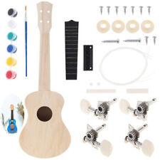 DIY 21inch Basswood Soprano Ukulele Kits Handmade Unfinished Musical Instrument