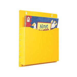 Classroom Office Single Big Book Pocket Filapocket Wall Hanging Storage– Yellow