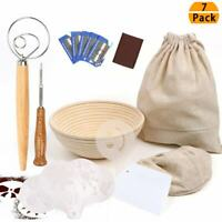 16pcs Bread Baking Stencils Banneton Proofing Basket Dough Whisk Beginners Gift